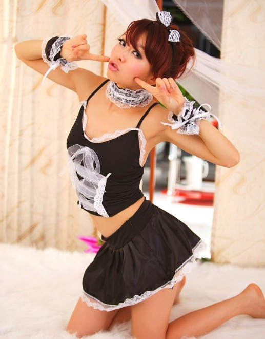 sexy maid cosplay costume D-7039